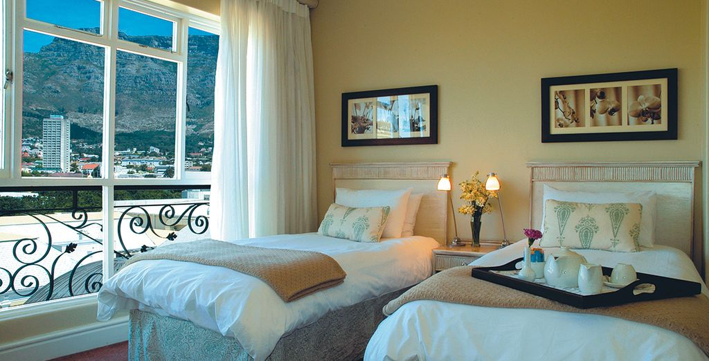 Begin with 4 nights at Cape Town Hollow Boutique Hotel