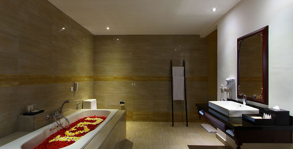 With a sleek and modern bathroom