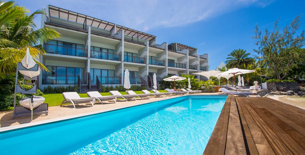 As you lounge by the pool - Baystone Boutique Hotel & Spa 5* Trou aux Biches