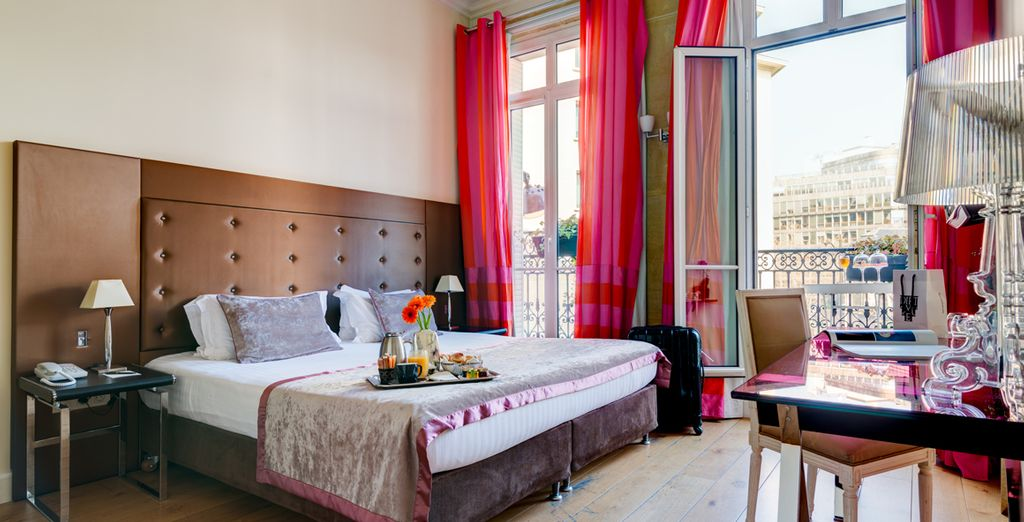 Stay in a chic design hotel in the heart of Paris