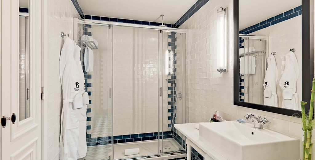 With an ensuite of luxury standard