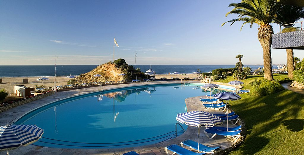 Soak up the sunshine by the pool...