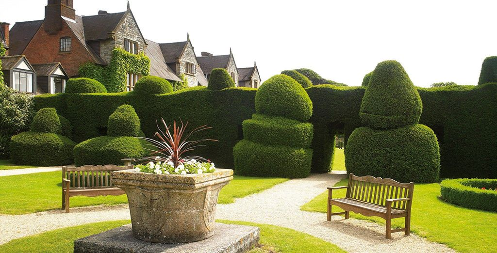 There's much to admire in the 100-year-old topiary gardens