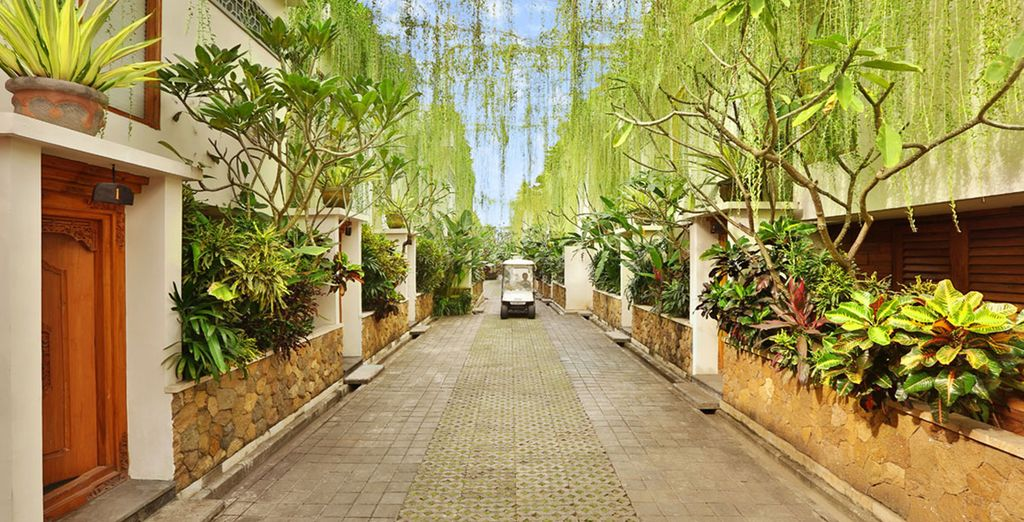 Settle into a typical villa ...