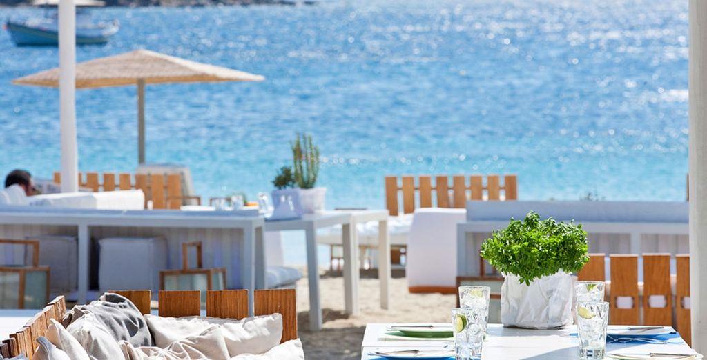 Lounge in the chic beach bar