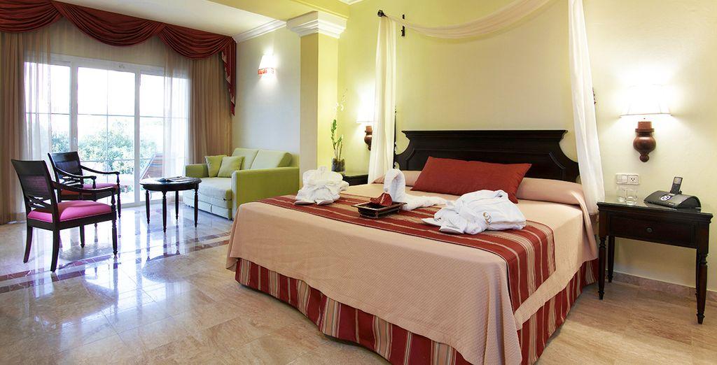 Enjoy absolute comfort in Junior Suite