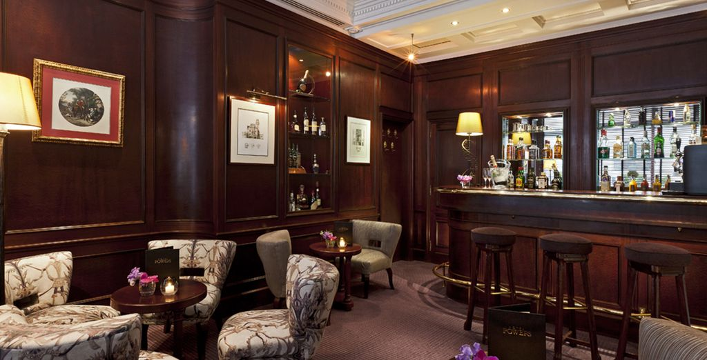 And the elegant bar is the perfect spot to sample a glass of vintage Champagne