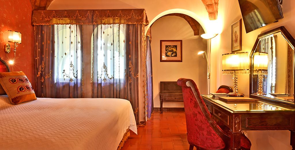 The rooms are brimming with luxury and character