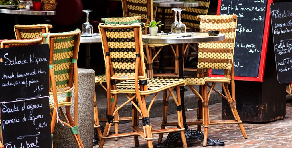 And if you feel like break, sit back in a charming Parisien cafe and watch the world go by