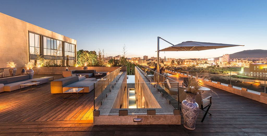This hotel has an amazing rooftop terrace