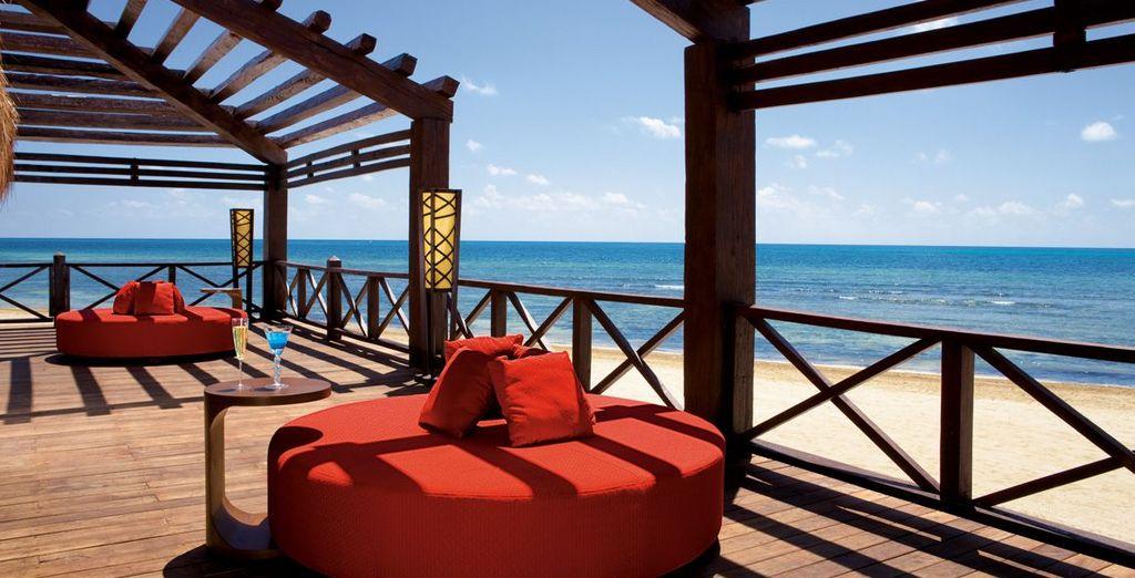 Soak up the sun with a chilled beer at beachside bar Barracuda - Secrets Silversands Riviera Cancun 5* Cancun