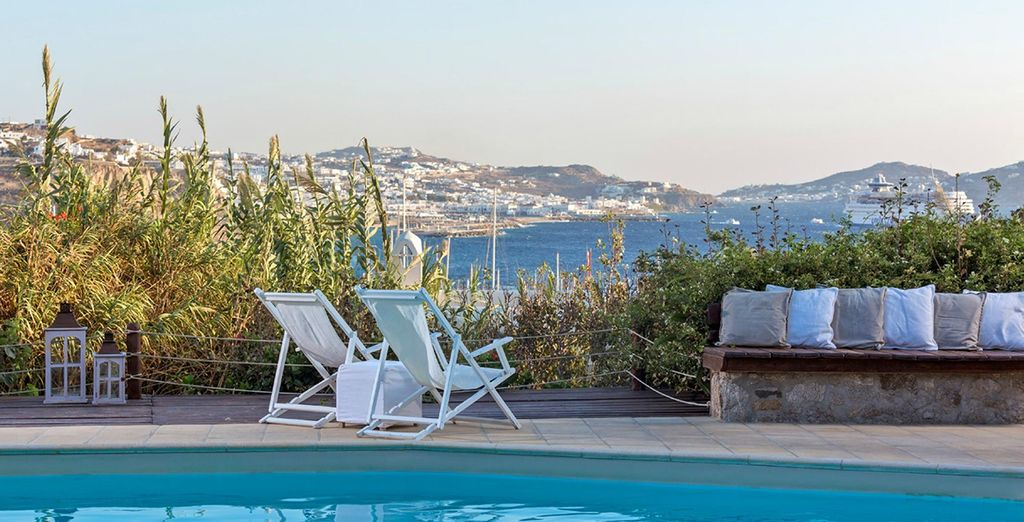 At the Rhenia Hotel, Mykonos