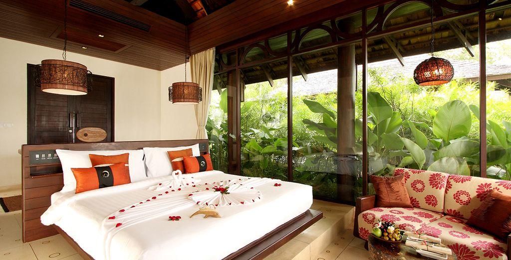 In a Deluxe Sea View Villa