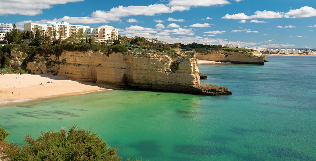 Add our car hire option to explore the Algarve coast with ease