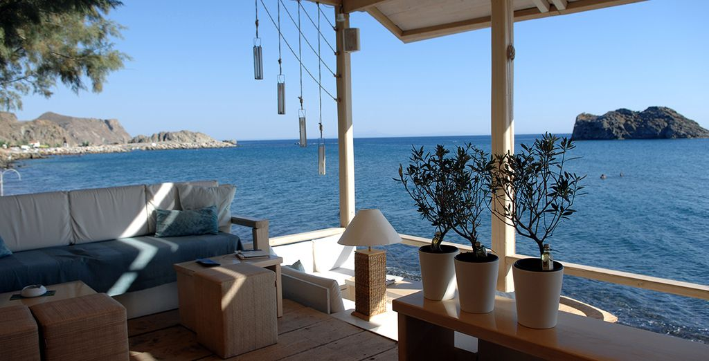 Or seek some shade at one of the cool lounges
