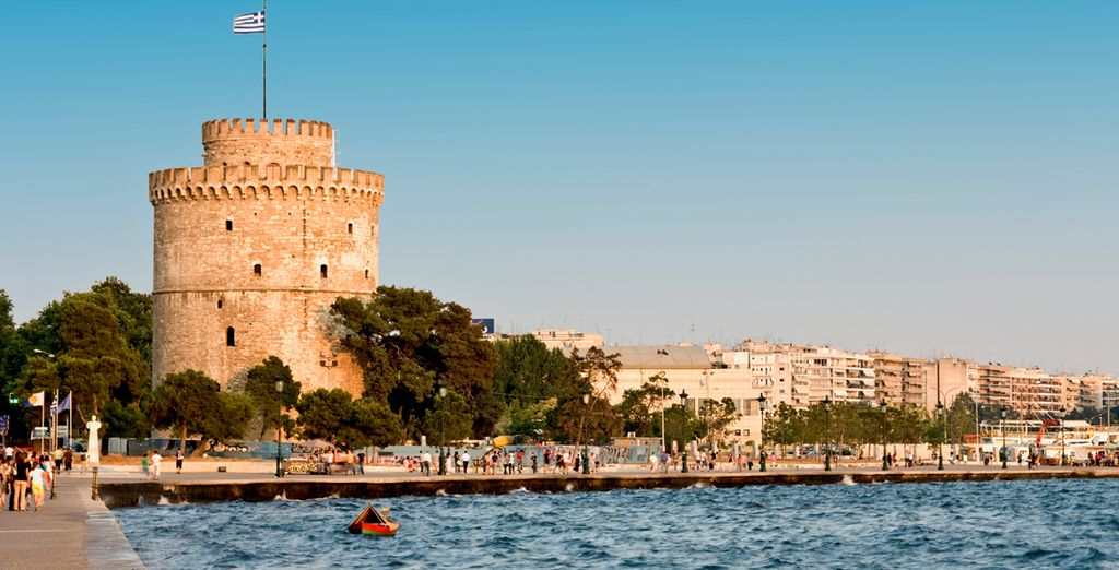 And the historic city of Thessaloniki is just over an hour away by car