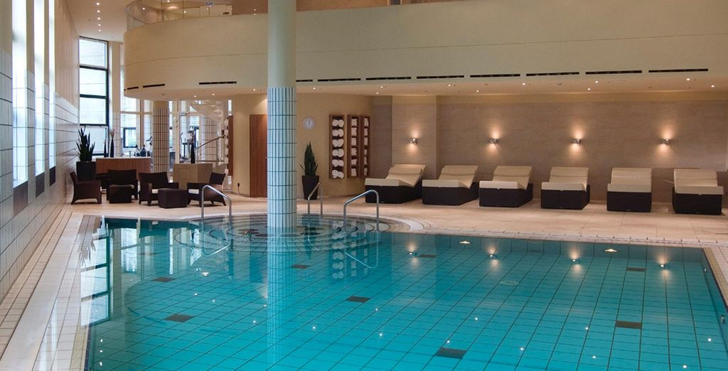 You'll have free access to its relaxing spa