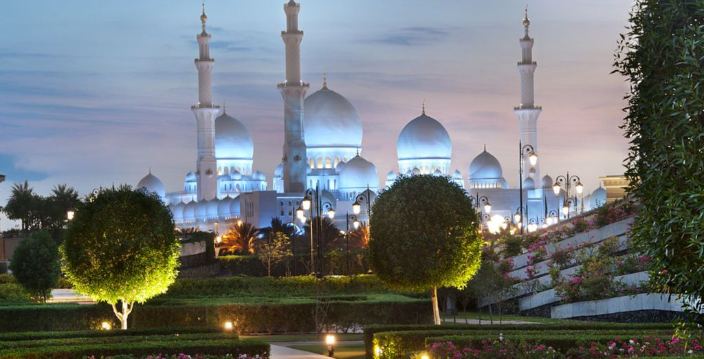 Is located across from the iconic Sheikh Zayed Grand Mosque