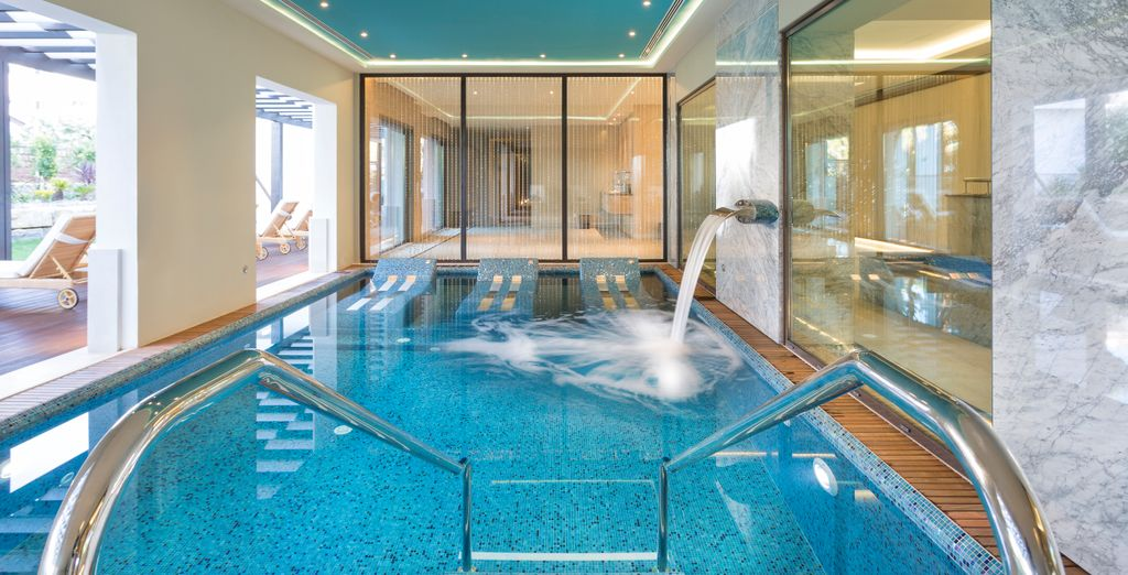 Visit the luxurious spa where you have free access