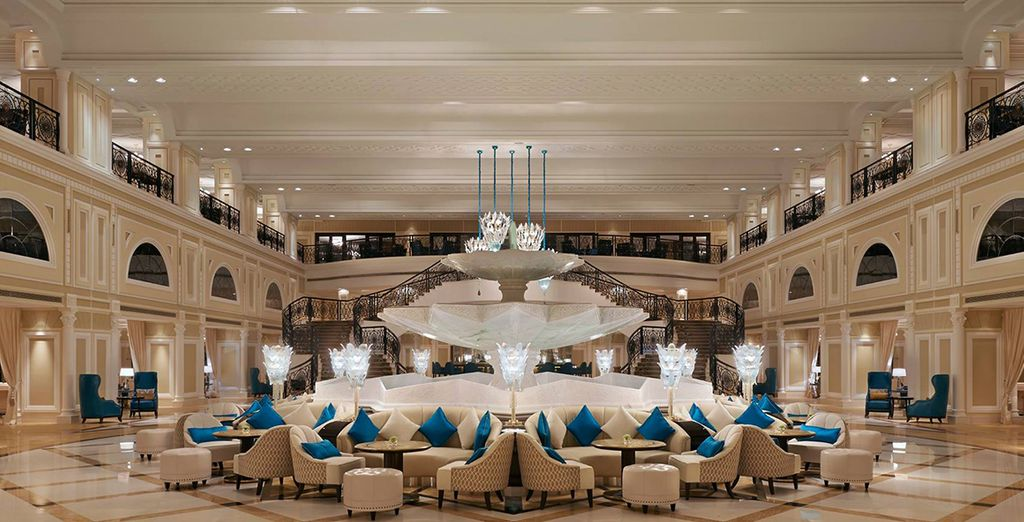 Be amazed by the grand, palatial lobby