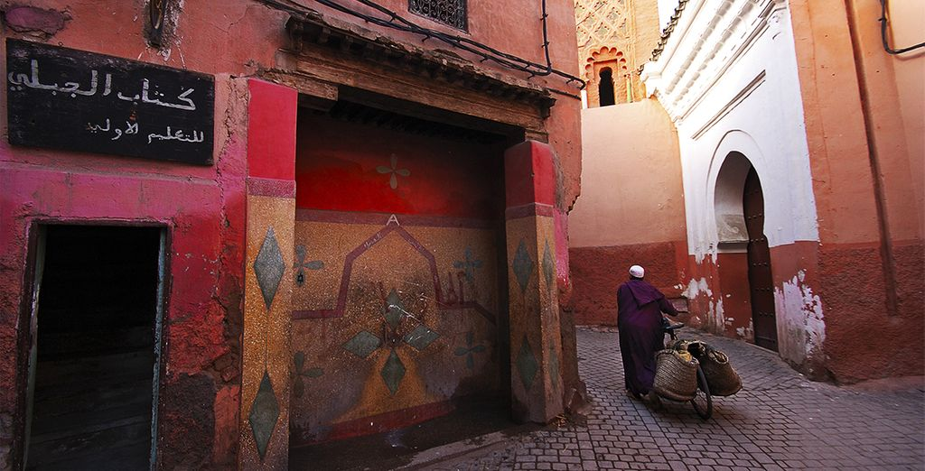 Head to the streets of Marrakech, a 25 min drive away