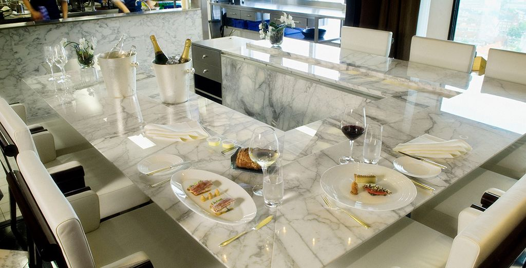 Dine in any of the 4 hotel restaurants - 3 awarded by Michelin