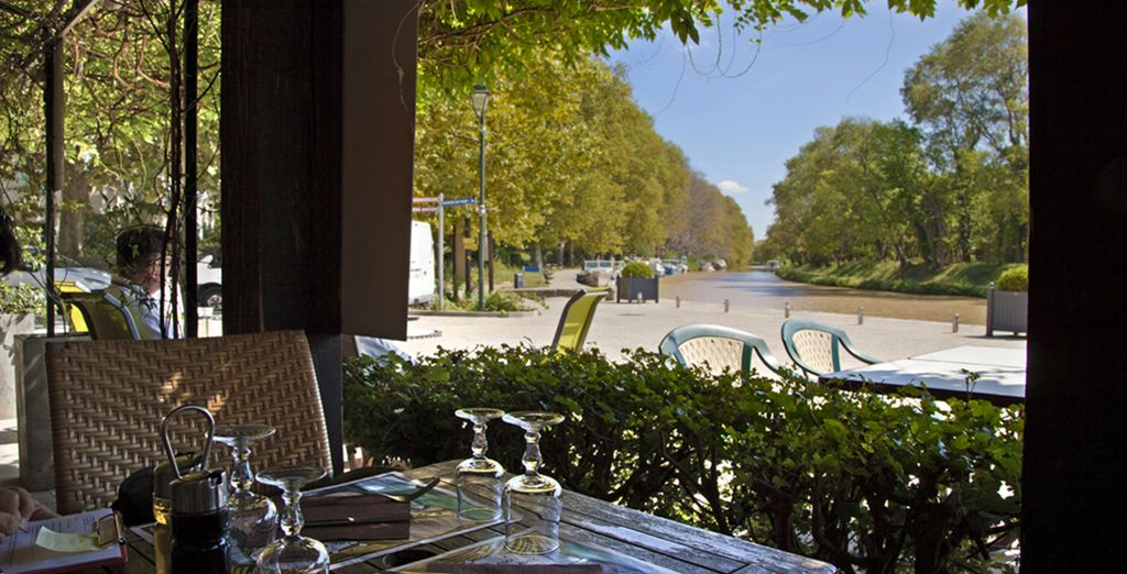 Or on the terrace to enjoy the local specialties