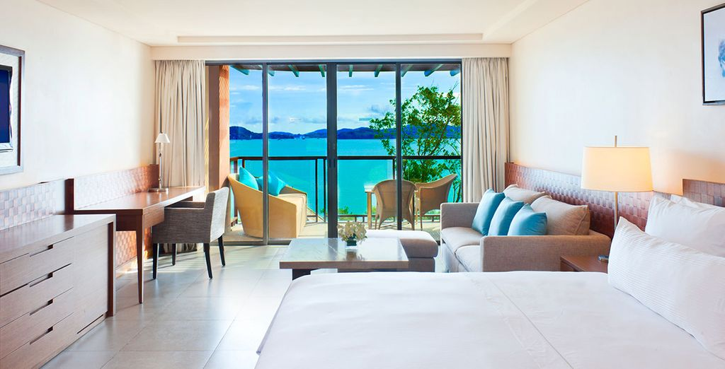 Where you can enjoy a Deluxe Sea View Room