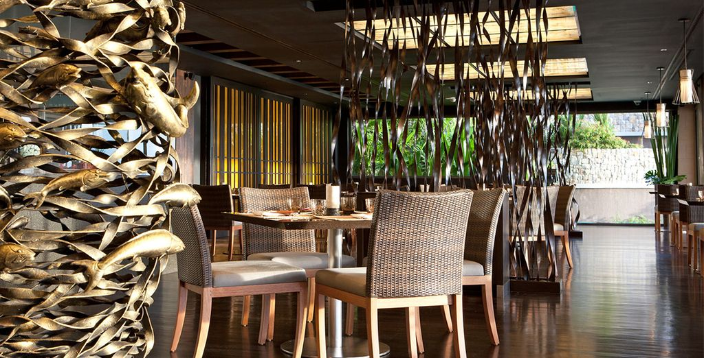Taste delicious flavours at the pan Asian restaurant