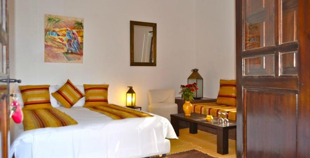 Settle into your inviting Baraka Room