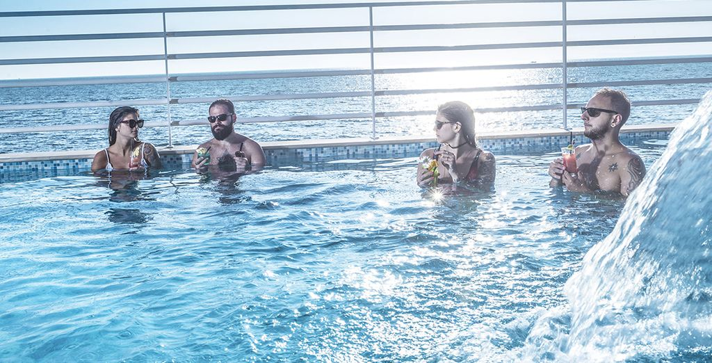 Cool off in the rooftop pool