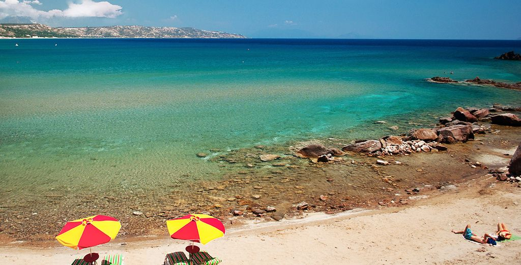 Or head to the nearby beach, thought to be the beach where the Grecian Hero Hercules was washed up