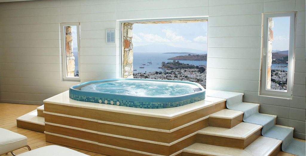 Then soothe aching muscles with a jacuzzi session