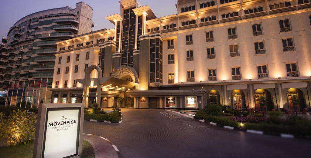 At the 5* Movenpick Hotel & Apartments Bur Dubai
