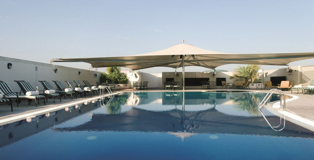 And dip your toes into pure luxury at the rooftop pool