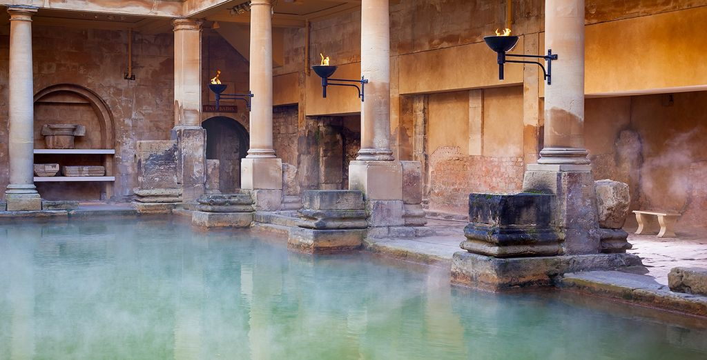 And steamy thermal Roman baths