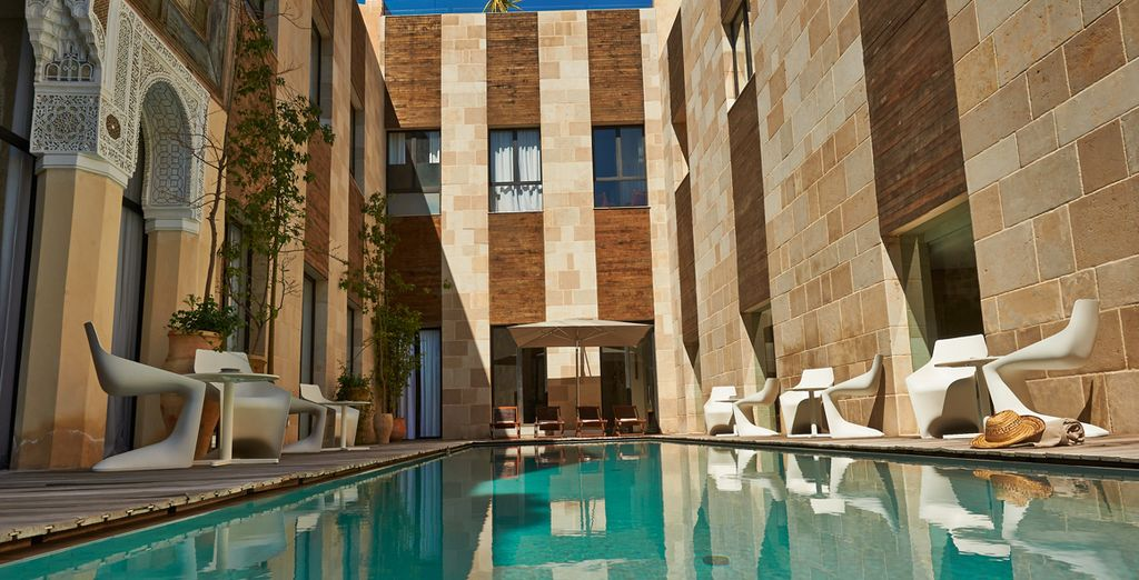 Stay in a luxury, boutique riad ....