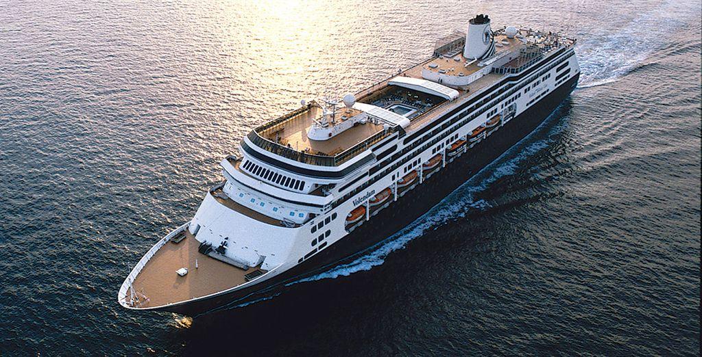 All aboard the MS Volendam!