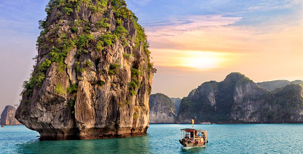 Visiting some of the pearls of Asia such as Ha Long Bay...