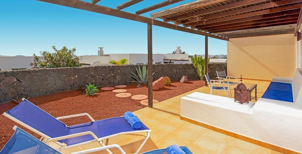 Soak up the Canary sunshine on the terrace