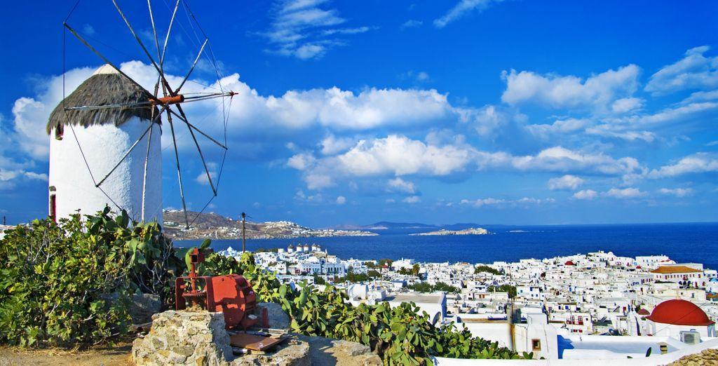 Mykonos' famous windmills