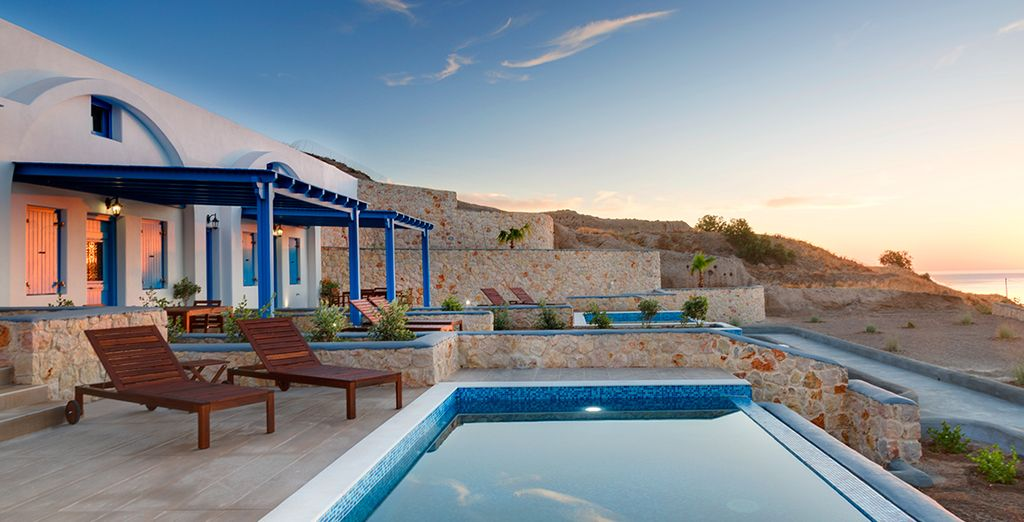 Soak up the sunshine by your private pool...