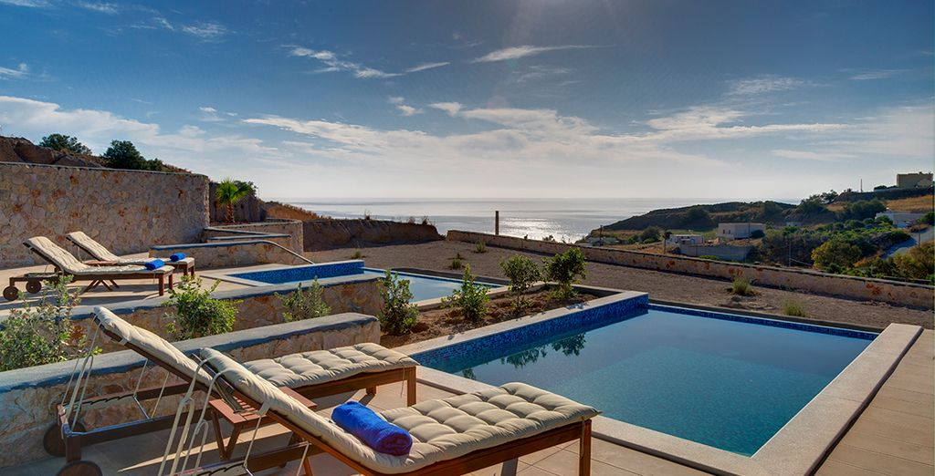 With a private pool and stunning views