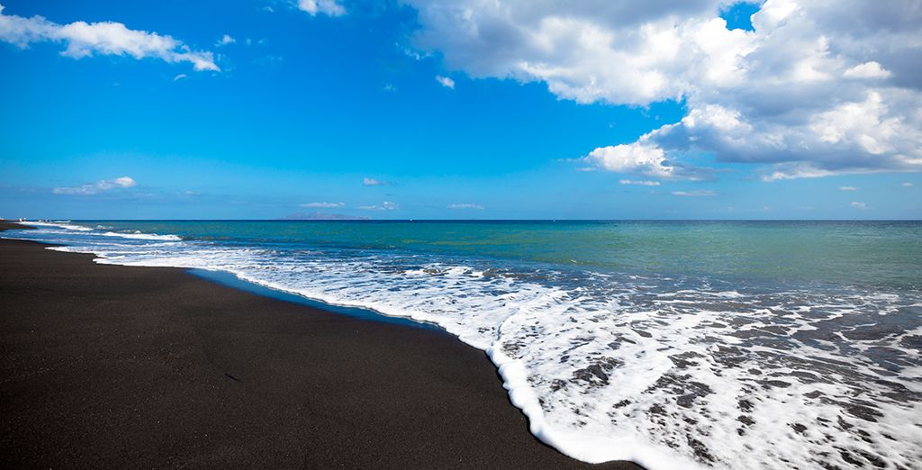 And black sand beaches