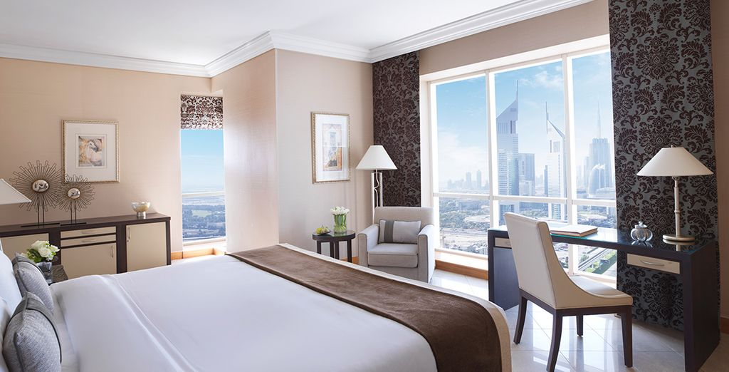 You have a great view from your upgraded room