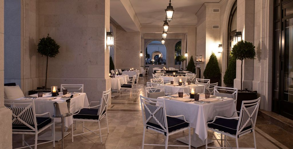 You may even dine on the terrace