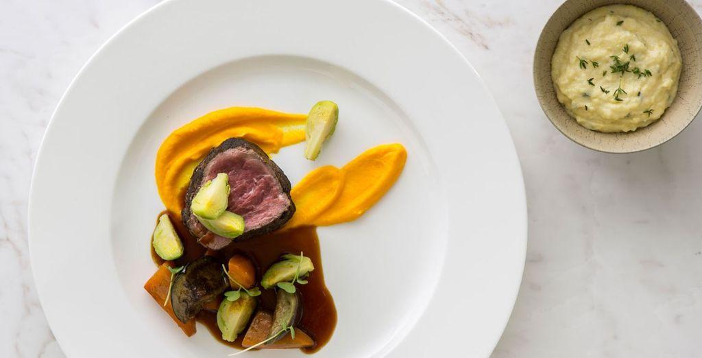 As you enjoy a new and creative cuisine