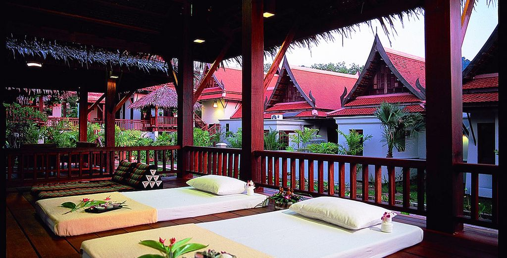 Retreat to the Bhandari Spa, surrounded by canals, lotus ponds and lush tropical garden