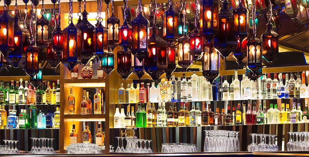Head to 'Tease' bar for a tropical pre dinner cocktail