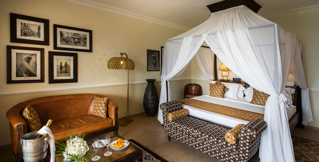 Where you will relax in a Luxury Junior Suite